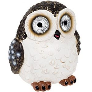 Solar Power Outdoor Garden Large Owl Decorative Spot Light