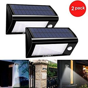 Solar Powered Security Floodlights- Set of 2- Motion Activated Lights