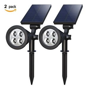 Solar Spotlights, Holan 4-LED Solar Landscape Lights