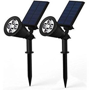 BlackLemon 2-in-1 Waterproof 4 LED Solar Spotlight