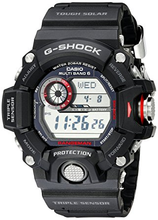Casio Men's Master of G Digital Quartz Black Solar Watch
