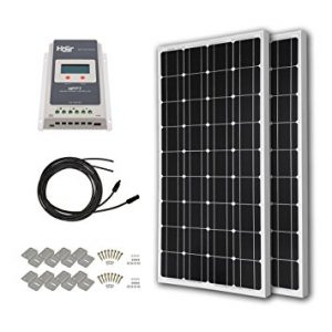 HQST 200 Watt 12 Volt Monocrystalline Solar Panel Kit