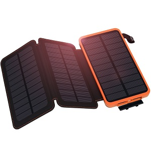 Hiluckey Waterproof Portable Solar Power Bank