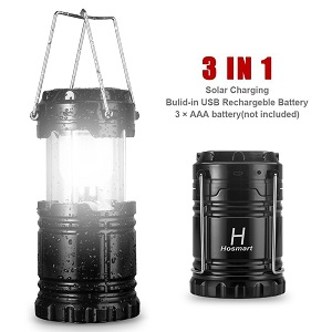 Hosmart Outdoor USB Rechargeable Solar Led Lantern