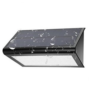 KUIZOOU Wireless Waterproof Security Solar Powered Light