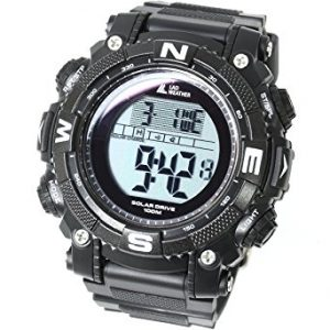 [LAD WEATHER] Powerful solar digital watch