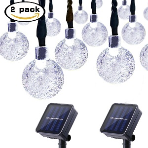 Lalapao Solar Powered Globe String Light