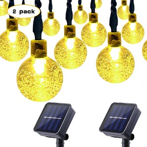 Lalapao Solar Powered Globe String Lights