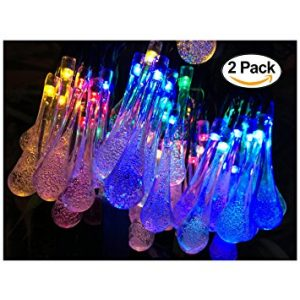 Lemontec Water Drop Solar Outdoor Lights