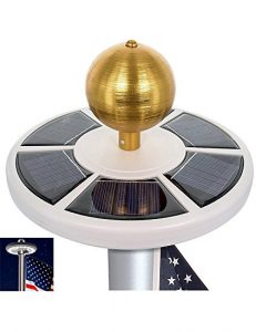 PeterIvan Solar Flagpole Light