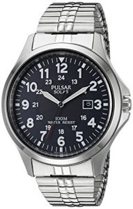 Pulsar Men's PX3069 Solar Quartz Silver Watch