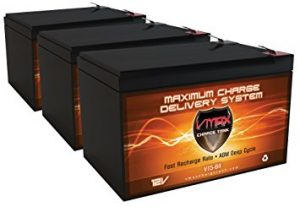 QTY 3 VMAX64 AGM Deep Cycle Battery