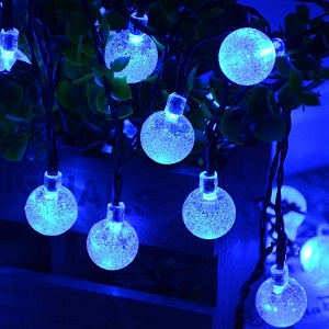 Qedertek Solar String Lights, Outdoor Globe Lights
