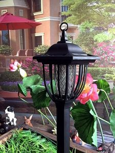Solar Powered Electric Bug Light Zapper