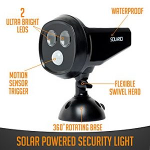 Solar Powered Security Spotlights