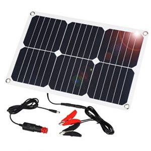 Suaoki 18V 12V 18W Solar Car Battery Charger