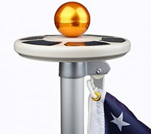 Sunnytech 3rd Generation Solar Flag Pole Light