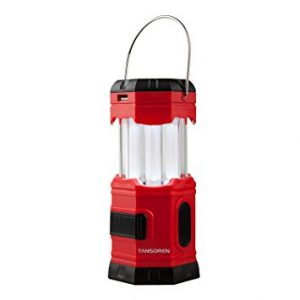"TANSOREN® LED Solar USB Rechargeable 180 Lumens Waterproof Camping Lantern Portable Emergency with ""S"" Hook"