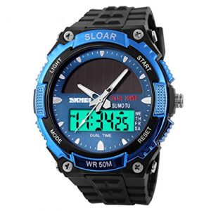 UGE Men's Solar Powered Dual Time
