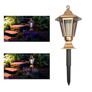 Wrcibo Electronic Insect Killer Outdoor Solar Mosquito Zapper