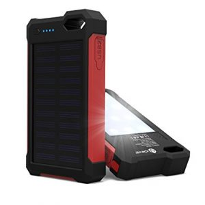 iClever 10000mAh Portable Solar Power Bank